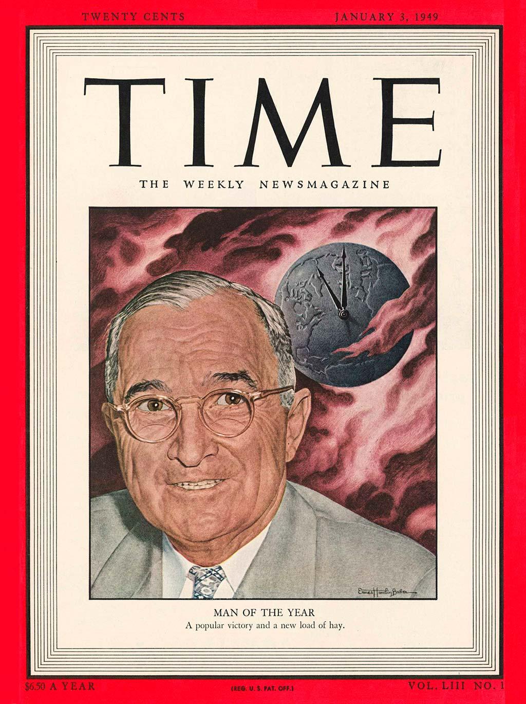 1948 год. 33-й президент США Гарри Трумэн на обложке Time