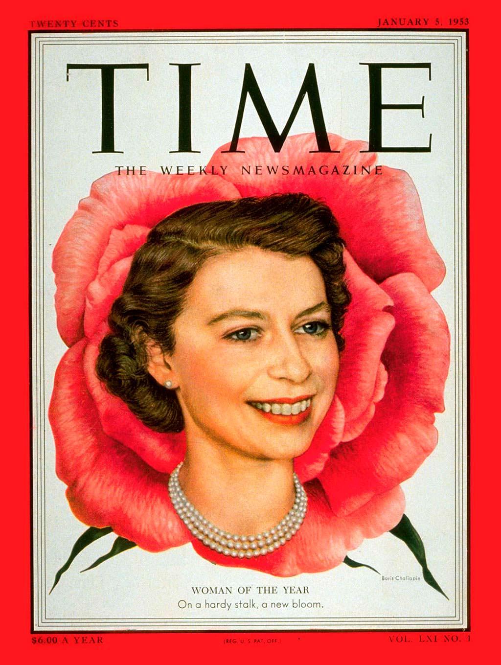 1952 год. Королева Британии Елизавета II на обложке Time