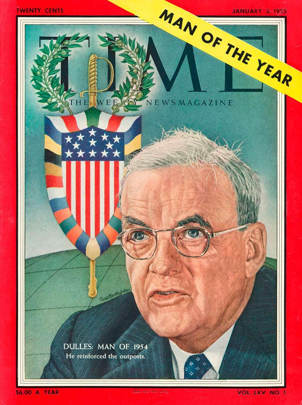 1954 год. Госсекретарь США Джон Даллес на обложке Time