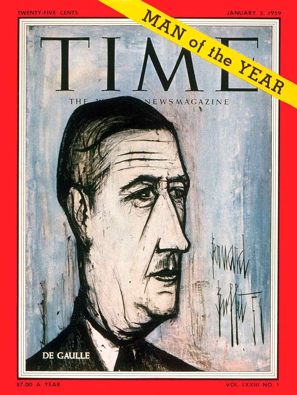 1958 год. Премьер Франции Шарль де Голль на обложке Time