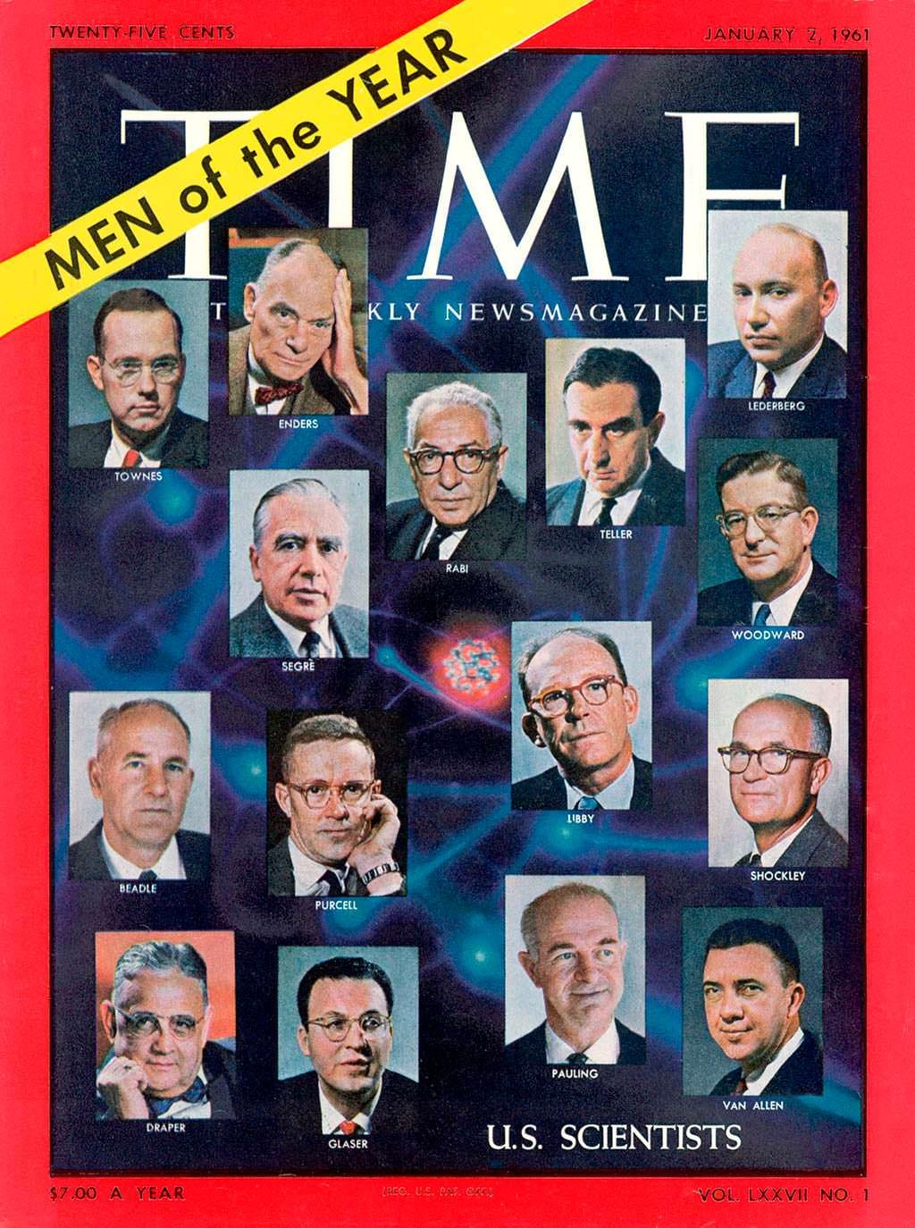 1960 год. Учёные США на обложке Time