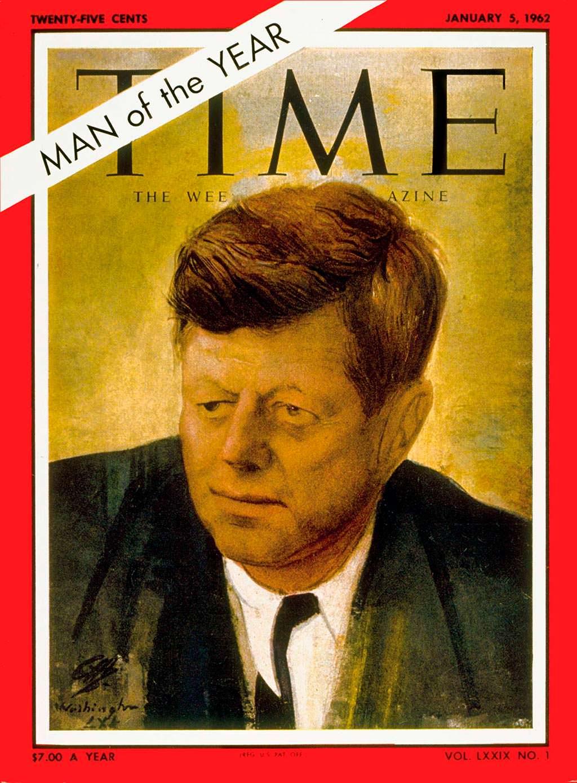 1961 год. 35-й президент США Джон Кеннеди на обложке Time