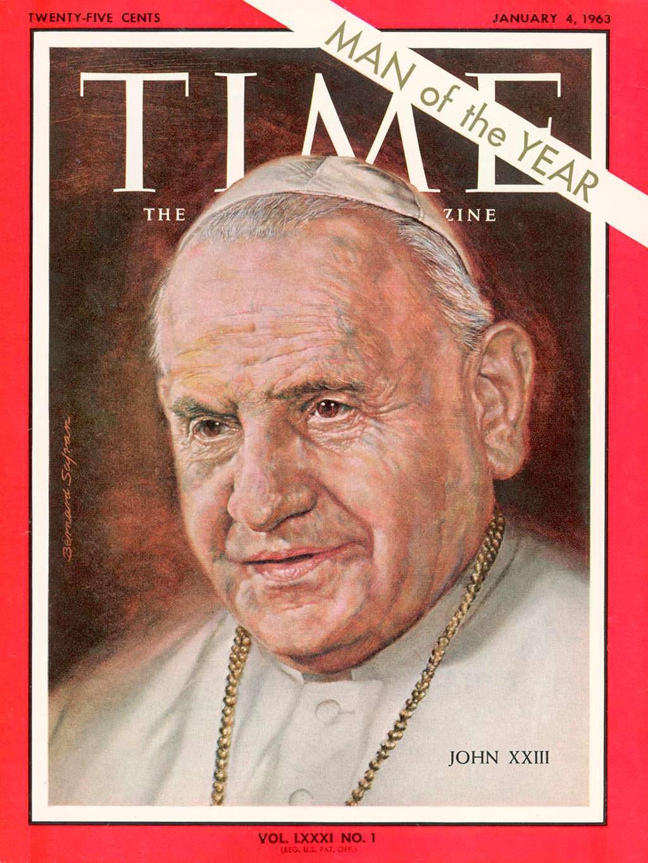 1962 год. Папа Римский Иоанн XXIII на обложке Time