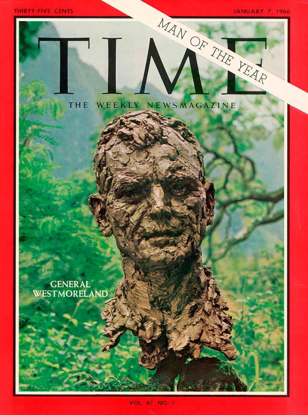 1965 год. Генерал США Уильям Уэстморленд на обложке Time