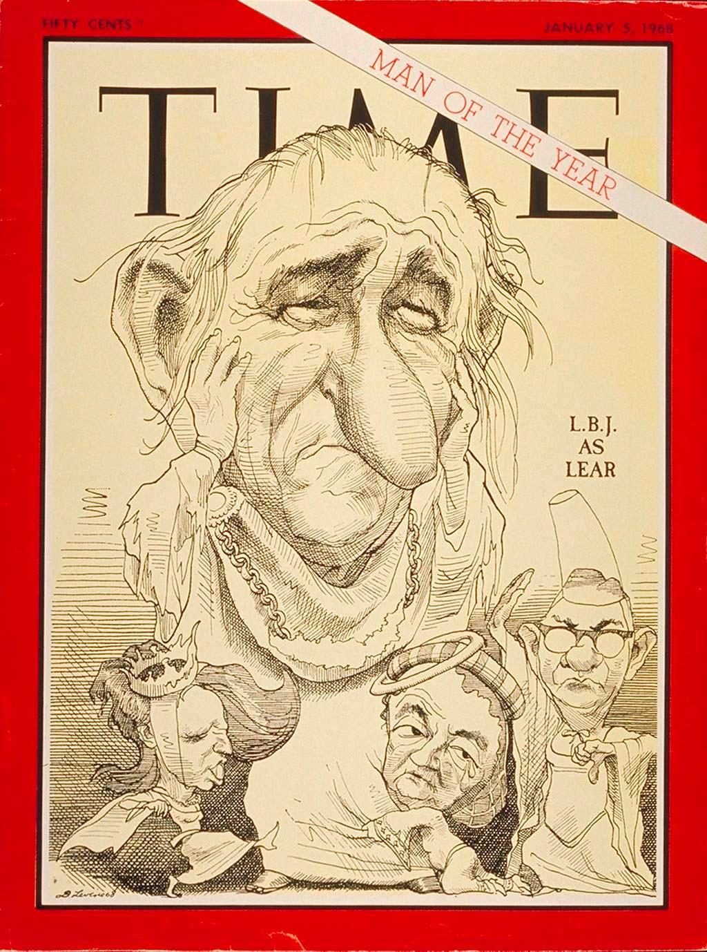 1967 год. Президент США Линдон Джонсон на обложке Time