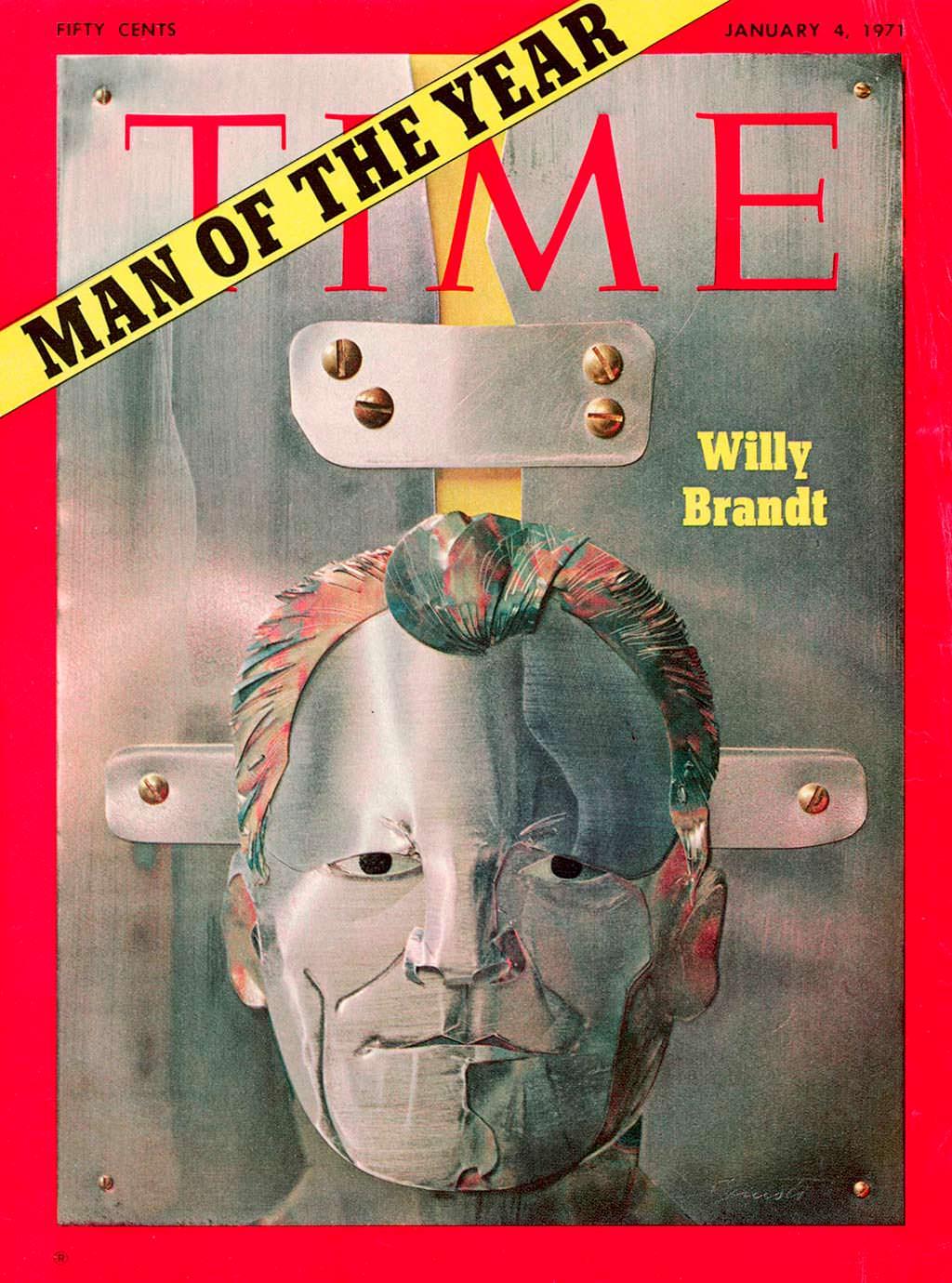 1970 год. Канцлер ФРГ Вилли Брандт на обложке Time
