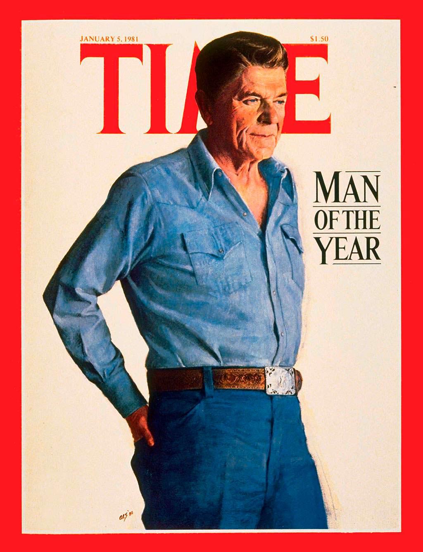 1980 год. 40-й президент США Рональд Рейган на обложке Time