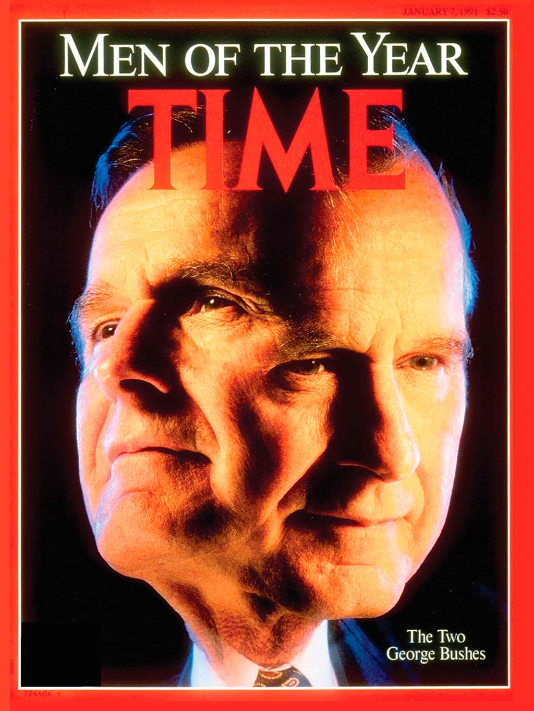 1990 год. 41-й президент США Джордж Буш-старший на обложке Time