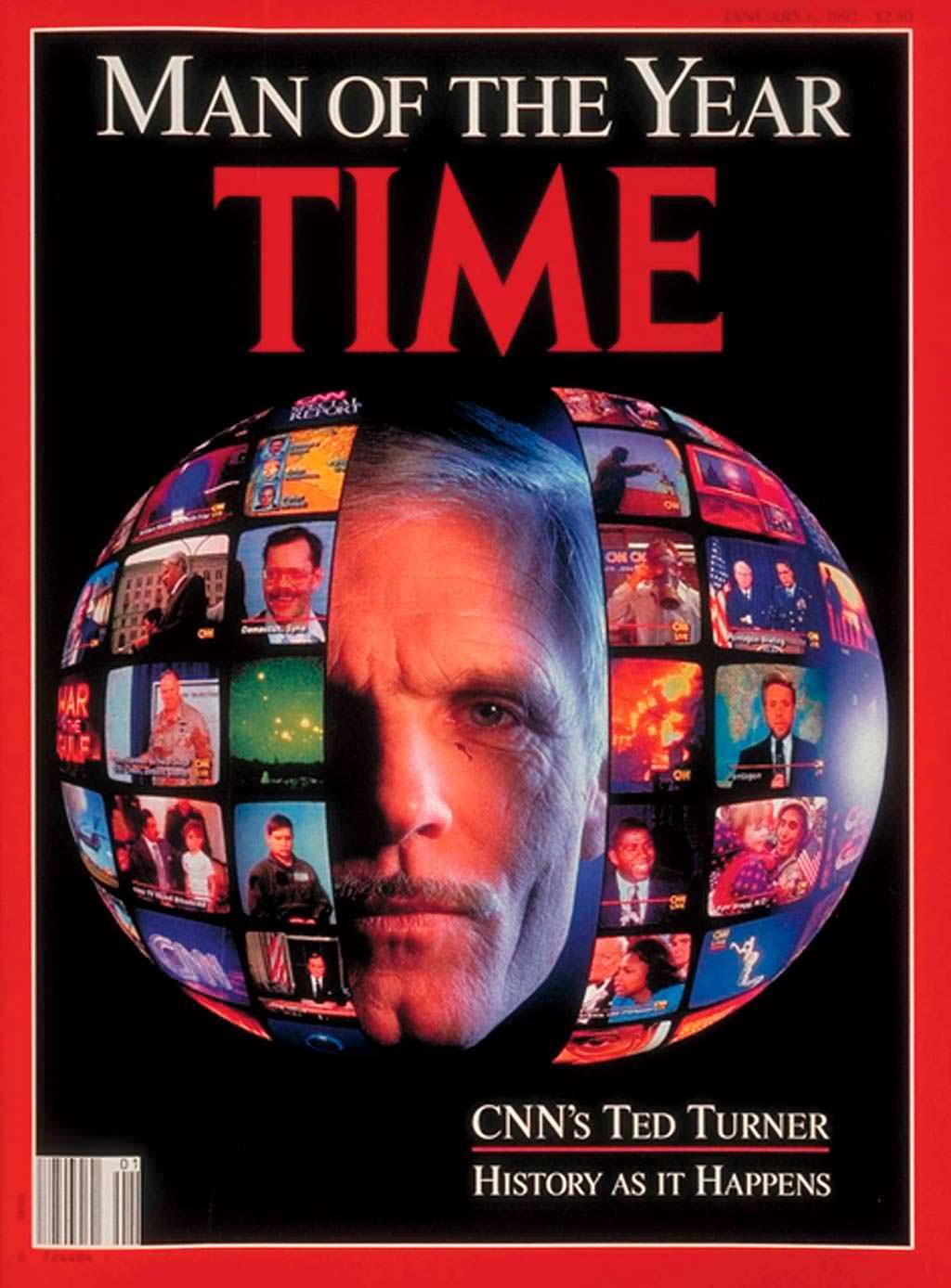 1991 год. Основатель CNN Тед Тёрнер на обложке Time