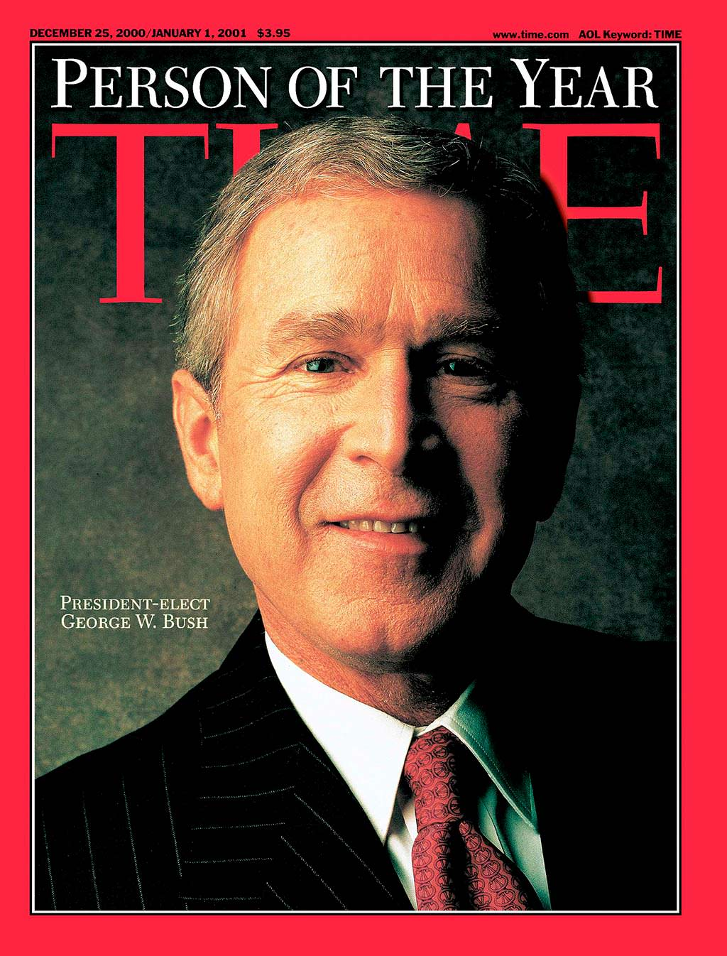 2000 год. 43-й президент США Джордж Буш-младший на обложке Time