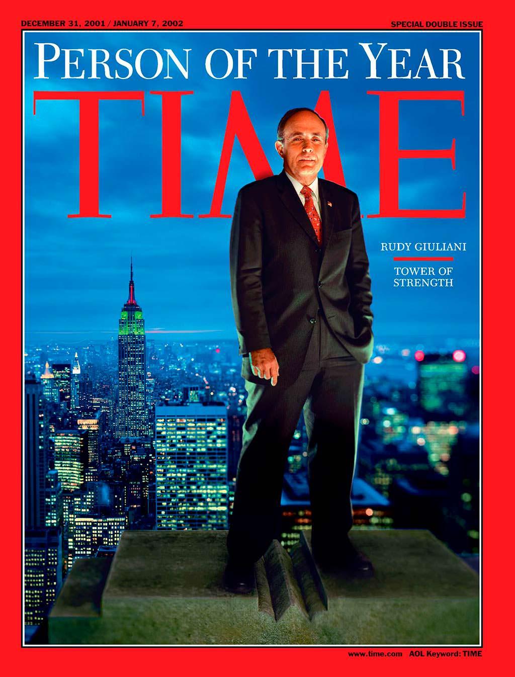2001 год. Мэр Нью-Йорка Рудольф Джулиани на обложке Time