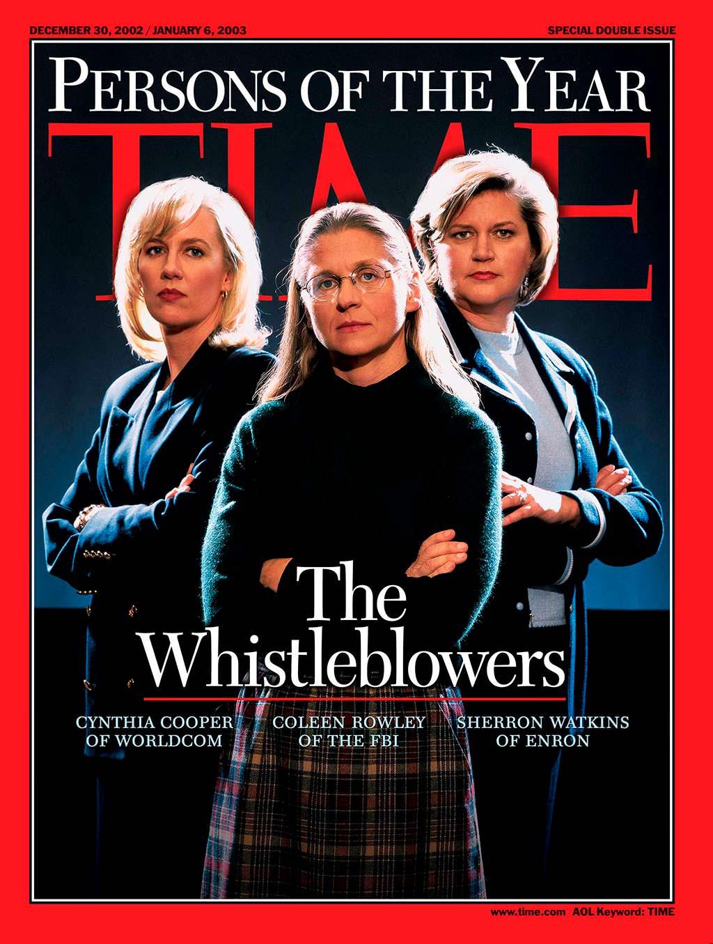 2002 год. Разоблачители на обложке Time