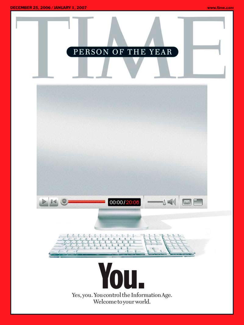 2006 год. Ты на обложке Time
