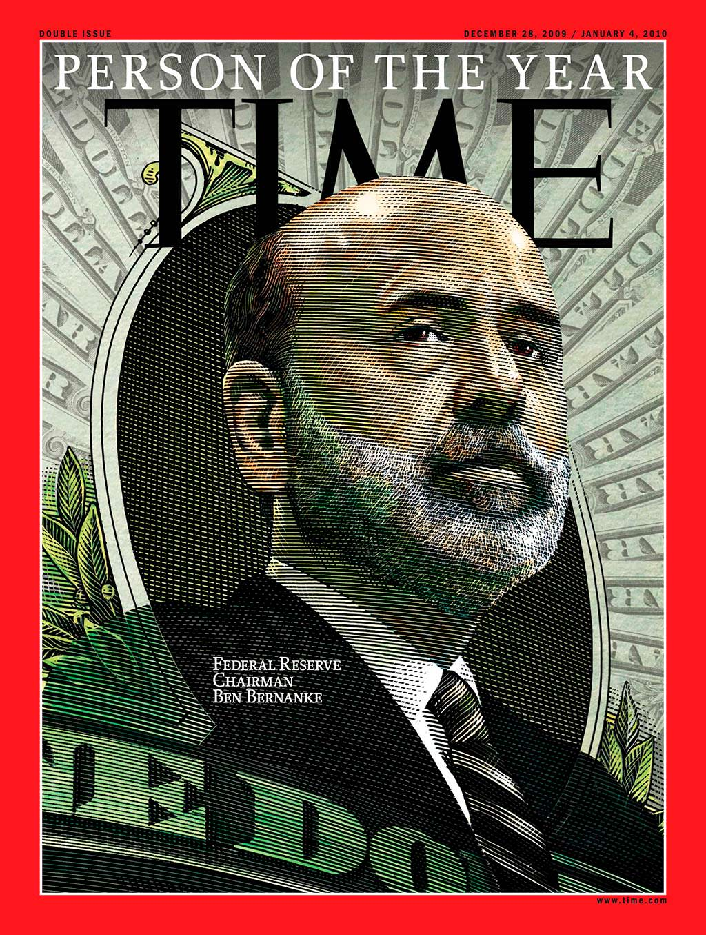 2009 год. Председатель ФРС Бен Бернанке на обложке Time