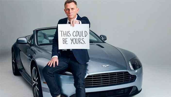Aston Martin Джеймса Бонда уйдет с молотка   фото, цена