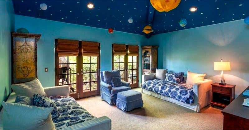 Дизайн детской комнаты в доме знаменитости