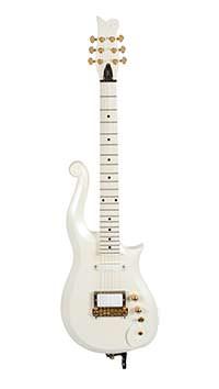 Белая гитара Принса Schecter White Cloud