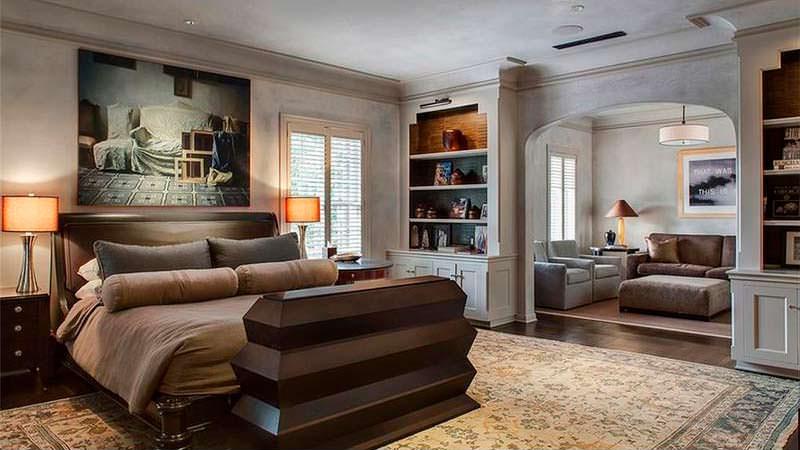 Спальня с собственной гостиной