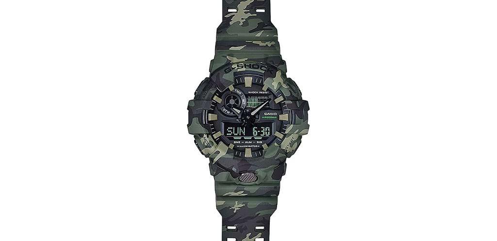 Камуфляжные часы Casio G-Shock GA700. Цена $130