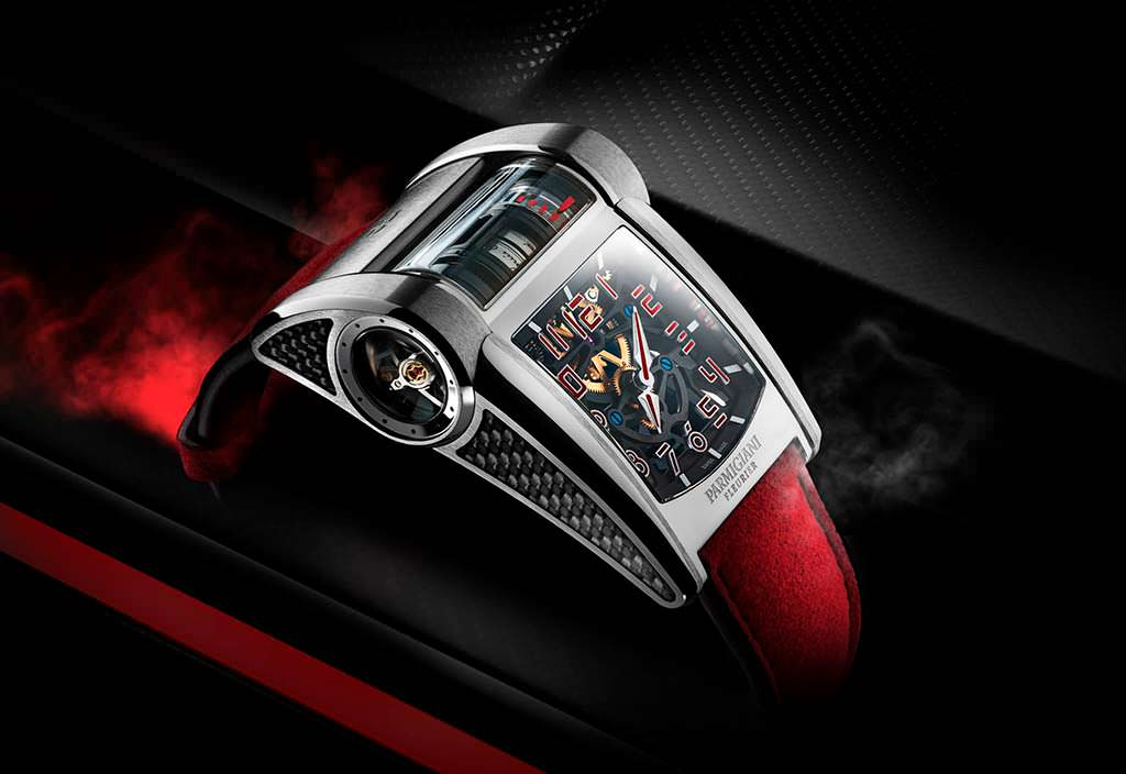 Швейцарские часы Parmigiani Fleeurier в честь Bugatti Chiron Sport