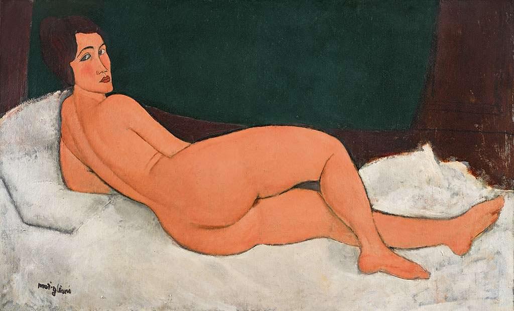 Картина Nu Couché 1917 года Амедео Модильяни. Цена $157,2 млн
