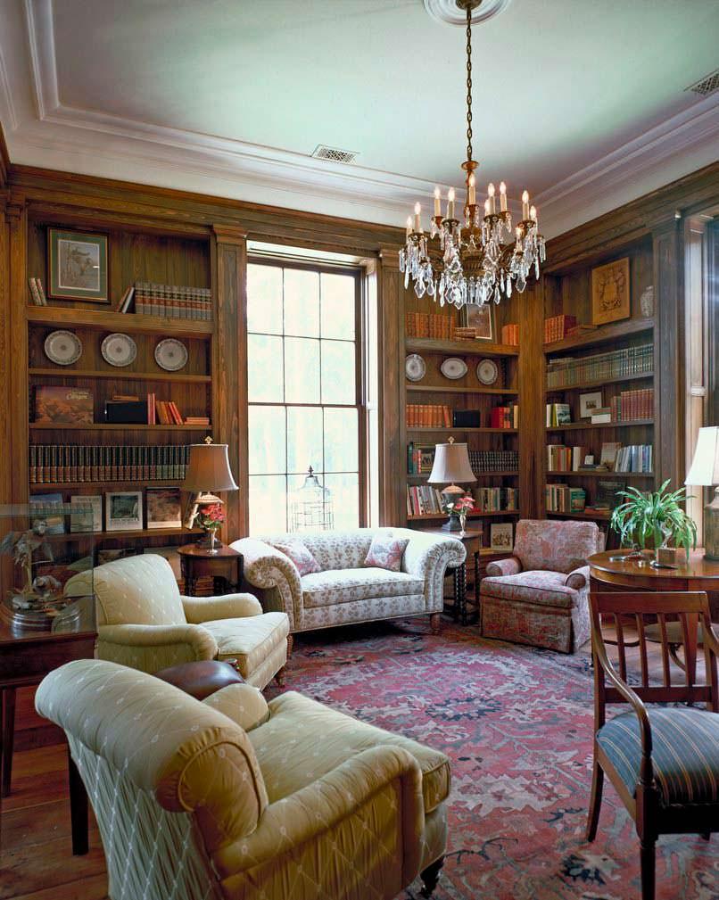 Домашняя библиотека на ранчо Бена Аффлека