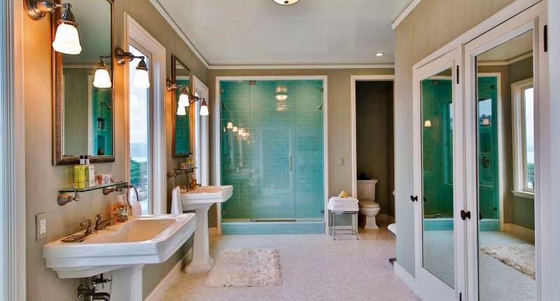 Дизайн ванной комнаты в доме Кирка Хэммета