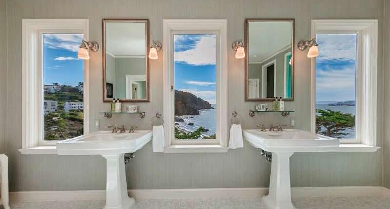 Ретро-дизайн ванной комнаты