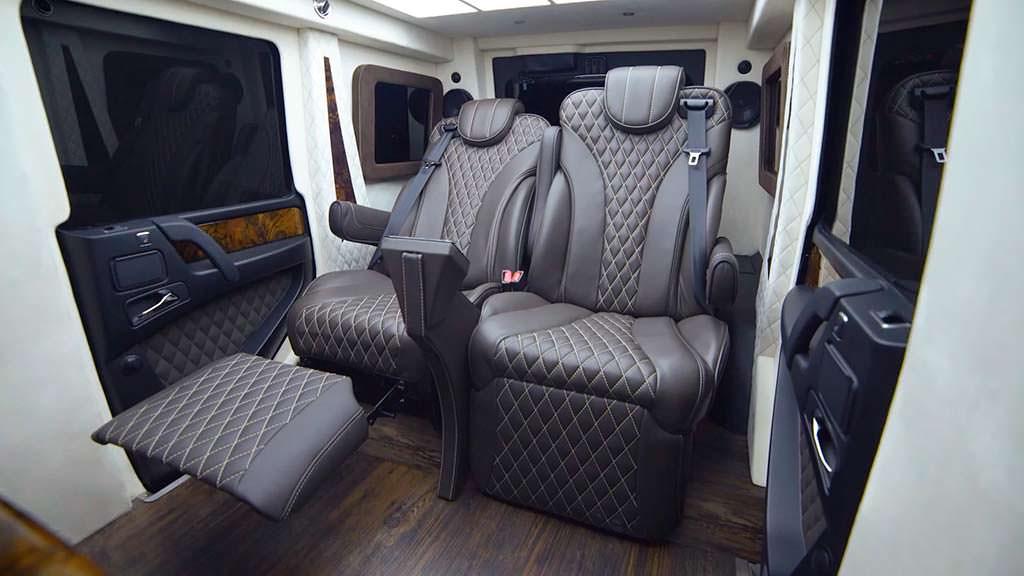 Сиденья бронированного Mercedes-AMG G63 от Inkas