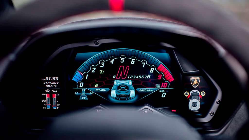 Приборная панель Lamborghini Centenario
