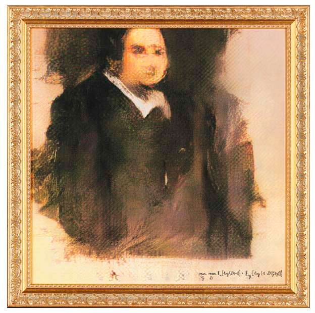 «Портрет Эдмонда Белами» - картина, нарисованная ИИ