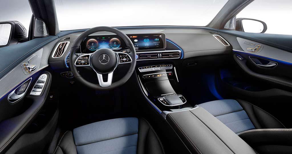 Интерьер Mercedes-Benz EQC