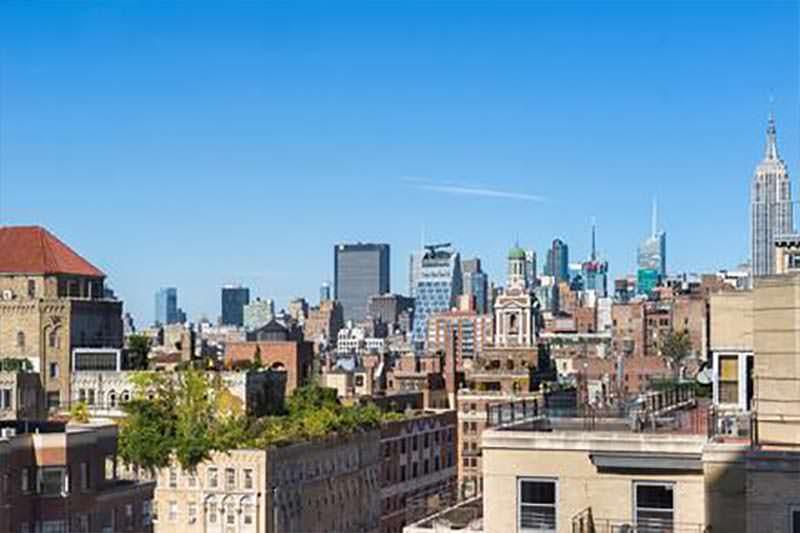 Вид на Манхэттен из квартиры