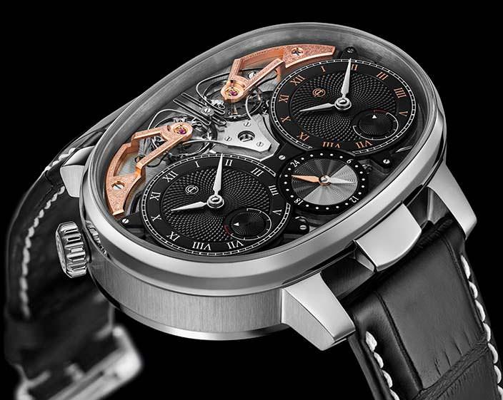 Часы с синхронными двумя балансами от Armin Strom