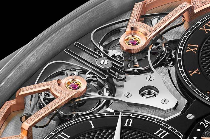 Синхронные балансы механизма часов Armin Strom ARF17