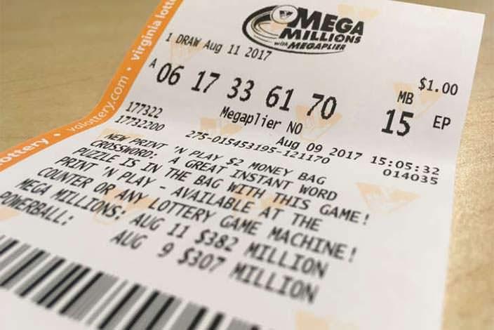 Как выглядит билет Mega Millions