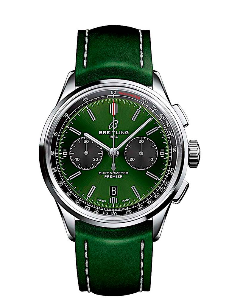 Швейцарские часы Breitling Premier B01 Chronograph 42 Bentley British Racing Green