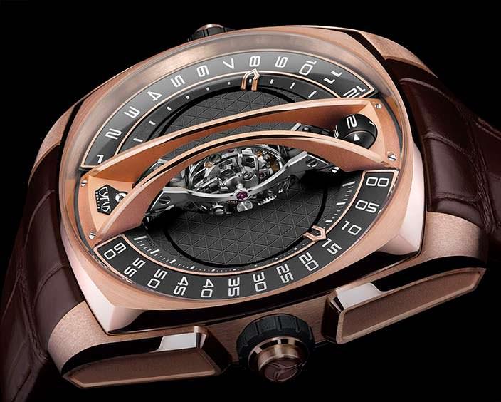 Золотые швейцарские часы с турбийоном Cyrus Watches