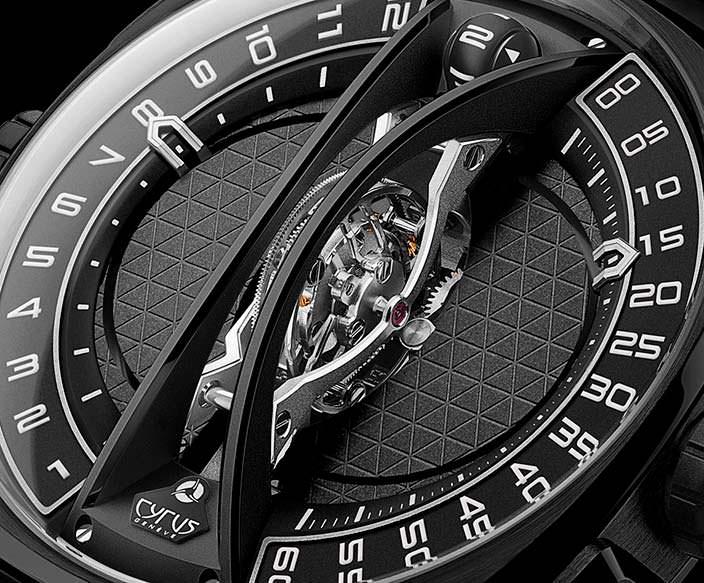Титановые швейцарские часы с турбийоном Cyrus Watches