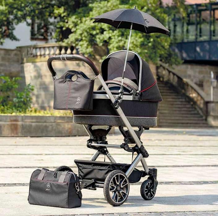 Детская коляска Mercedes-Benz Avantgarde с зонтом и сумкой