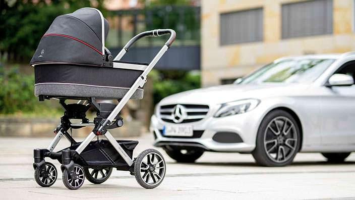 Детская коляска Mercedes-Benz Avantgarde с колесами как у C-Class