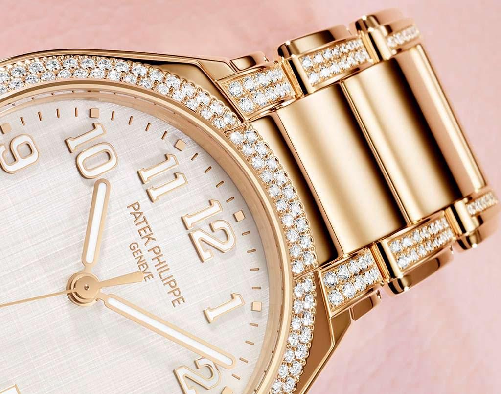 Золотые часы с бриллиантовым браслетом