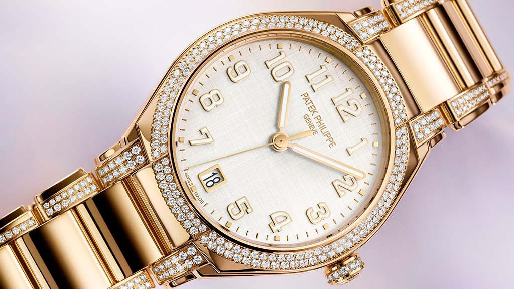 Золотые часы с бриллиантами Patek Philippe Twenty-4 Ref. 7300