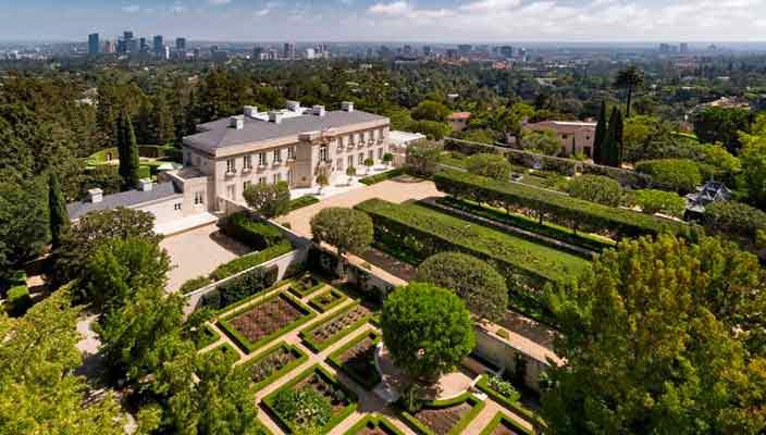 Самый дорогой дом США продается в Бель-Эйр. Цена и фото