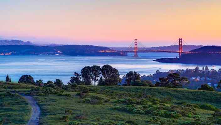 В США продают 4,5 Га земли с видом на мост Золотые ворота | цена