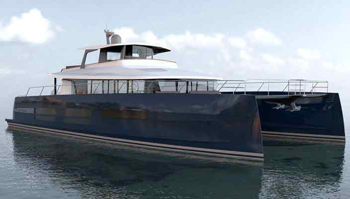 JFA Yachts строит яхту-катамаран Long Island 78   фото