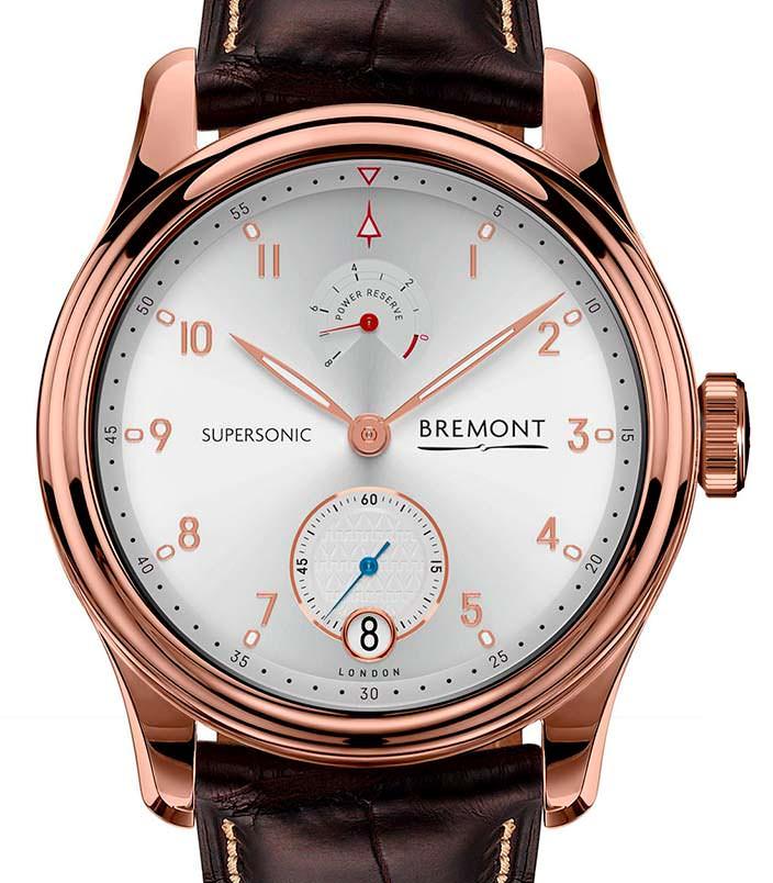 Золотые английские часы Bremont Supersonic