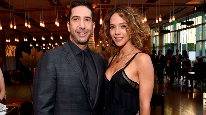 Фото   Дэвид Швиммер с женой Зоуи Бакман