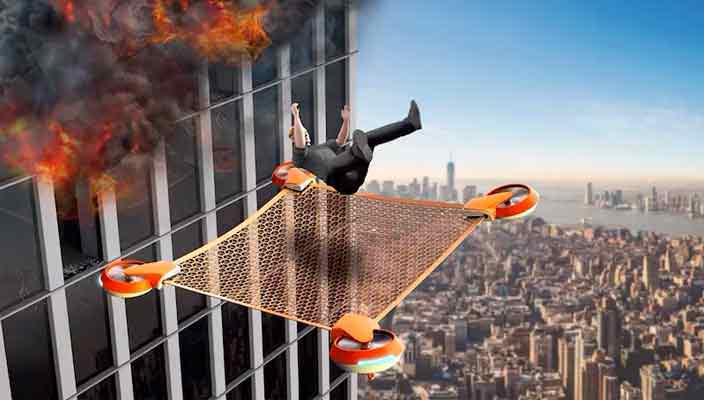 Предложен концепт дрона для спасения людей при пожарах в башнях
