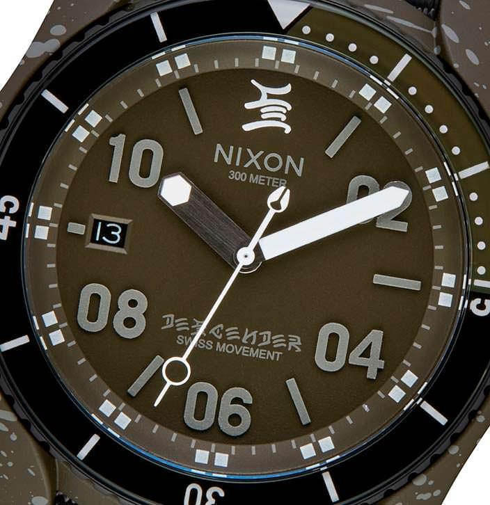 Часы в милитари-стиле Nixon C.R. Stecyk III Descender